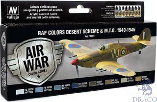 Vallejo Model Air Set 163: RAF Colors Desert Scheme & M.T.O. 1940-1945 (8 colors)