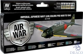 Vallejo Model Air Set 169: Imperial Japanese Navy (IJN) Colors