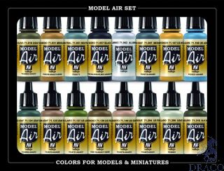 Vallejo Model Air Set 185: WWII USA AF Aircraft (16 colors)