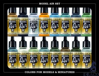 Vallejo Model Air Set 189: WWII British Aircraft RAF & FAA (16 colors)