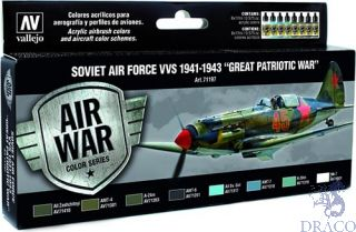 "Vallejo Model Air Set 197: Soviet Air Force VVS 1941 to 1943 ""Great Patriotic War"" (8 colors)"