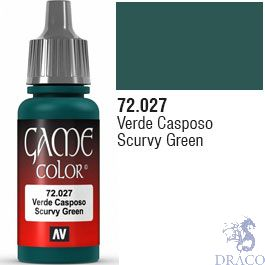 Vallejo Game Color 027: Scurvy Green 17 ml.