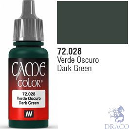 Vallejo Game Color 028: Dark Green 17 ml.