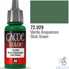 Vallejo Game Color 029: Sick Green 17 ml.