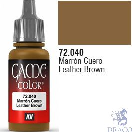 Vallejo Game Color 040: Leather Brown 17 ml.