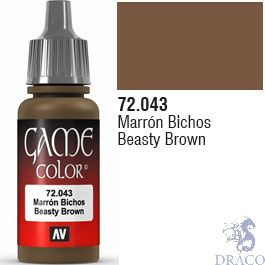 Vallejo Game Color 043: Beasty Brown 17 ml.
