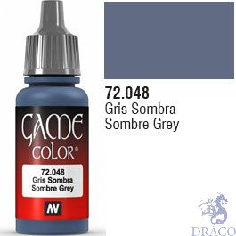 Vallejo Game Color 048: Sombre Grey 17 ml.