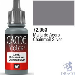 Vallejo Game Color 053: Chainmail Silver 17 ml.