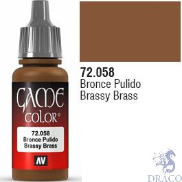 Vallejo Game Color 058: Brassy Brass 17 ml.