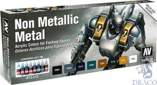 Vallejo Game Color Set 212: Non Metalic Metal (8 colors)