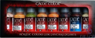 Vallejo Game Color Set 295: Skin Tones (8 colors)