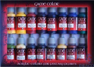 Vallejo Game Color Set 298: Advanced Set (16 colors)