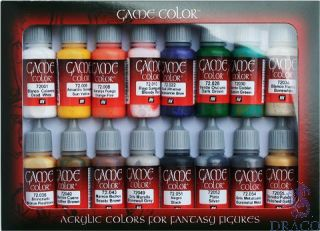 Vallejo Game Color Set 299: Introduction Set (16 colors)