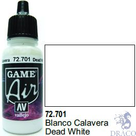 Vallejo Game Air 701: 17 ml. Dead White