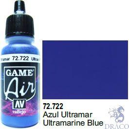 Vallejo Game Air 722: 17 ml. Ultramarine Blue