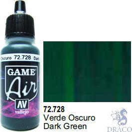 Vallejo Game Air 728: 17 ml. Dark Green