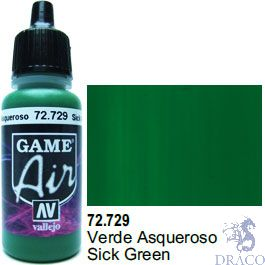 Vallejo Game Air 729: 17 ml. Sick Green