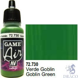 Vallejo Game Air 730: 17 ml. Goblin Green