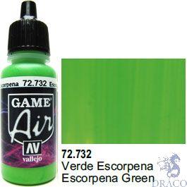 Vallejo Game Air 732: 17 ml. Escorpena Green