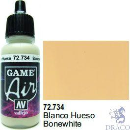 Vallejo Game Air 734: 17 ml. Bonewhite