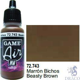 Vallejo Game Air 743: 17 ml. Beasty Brown