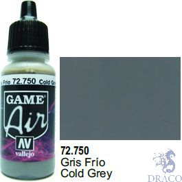 Vallejo Game Air 750: 17 ml. Cold Grey