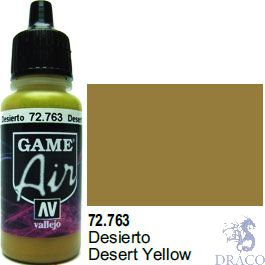 Vallejo Game Air 763: 17 ml. Desert Yellow