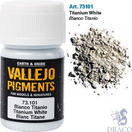 Vallejo Pigments 01: Titanium White 30 ml.