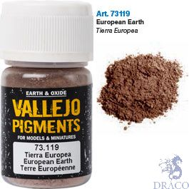 Vallejo Pigments 19: European Earth 30 ml.
