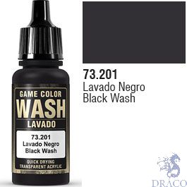 Vallejo Wash 01: 17 Ml. Black Shade