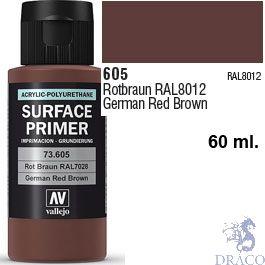 Vallejo Acrylic Polyurethane Primer - German Red Brown 60 ml.