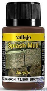 Vallejo Weathering Effects 805: Brown Splash Mud 40 ml.
