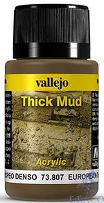 Vallejo Weathering Effects 807: European Thick Mud 40 ml.