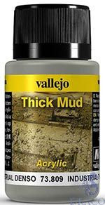 Vallejo Weathering Effects 809: Industrial Thick Mud 40 ml.