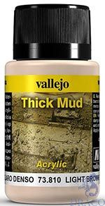 Vallejo Weathering Effects 810: Light Brown Thick Mud 40 ml.
