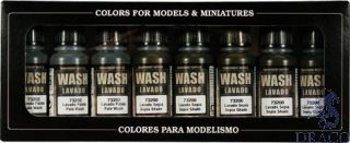 Vallejo Game Color Set 998: Washes Set (8 colors)