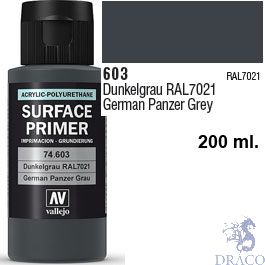 Vallejo Acrylic Polyurethane Primer - German Panzer Grey 200 ml.