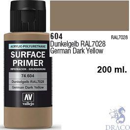 Vallejo Acrylic Polyurethane Primer - German Dark Yellow 200 ml.