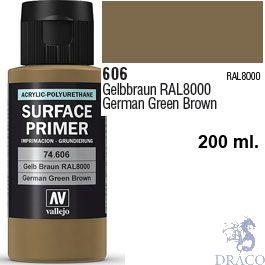 Vallejo Acrylic Polyurethane Primer - German Green Brown 200 ml.