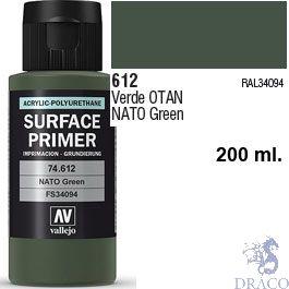 Vallejo Acrylic Polyurethane Primer - Nato Green 200 ml.