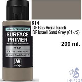 Vallejo Acrylic Polyurethane Primer - IDF Israelí Sand Grey 61-73 200 ml.