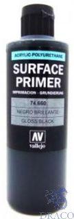 Vallejo Metal Color 60: Gloss Black Primer 200 ml.