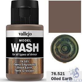 Vallejo Model Wash 21: Oiled Earth 35 ml.