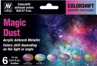 Vallejo Eccentric Colors - The Shifters Set 090: Magic Dust (6 colors)