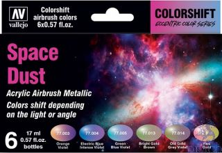 Vallejo Eccentric Colors - The Shifters Set 091: Space Dust (6 colors)