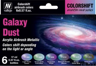 Vallejo Eccentric Colors - The Shifters Set 092: Galaxy Dust (6 colors)