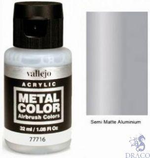 Vallejo Metal Color 16: Semi Matte Aluminium 32 ml.