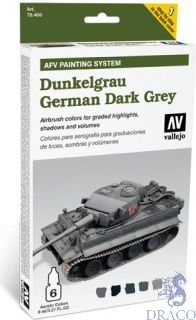 Vallejo German Dark Grey AFV Armour Painting System (6 colors 8ml.)