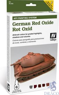 Vallejo German Red Oxide AFV Armour Painting System (6 colors 8ml.)