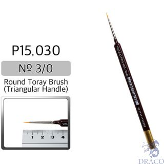 Vallejo Brush Series P515 / P15 - Round Toray, Triangular Handle- No 000